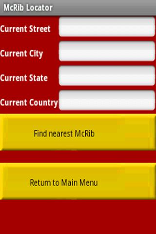McRib Locator - screenshot