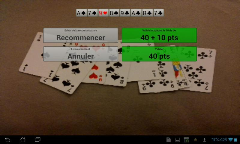 Score Belote Camera - screenshot