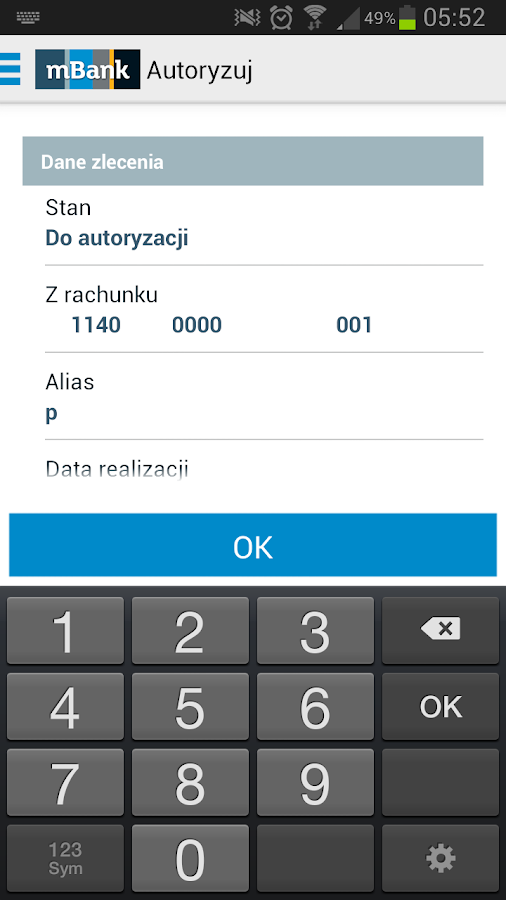mBank CompanyMobile- screenshot