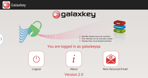 Galaxkey- screenshot thumbnail