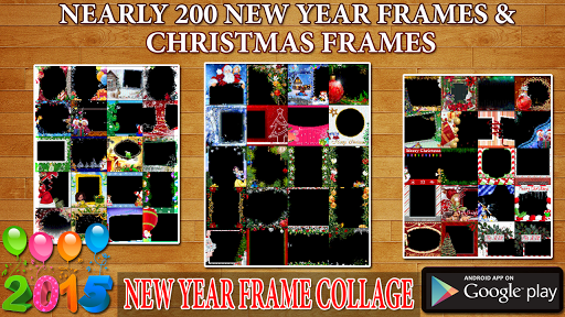 New Year Frame Collage