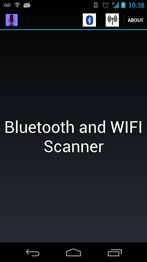 Bluetooth and Wifi scanner