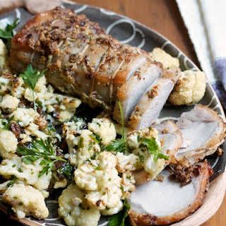 Pork Loin Roast with Sicilian Cauliflower.