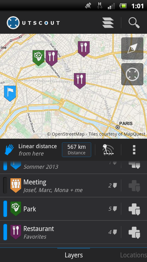 OutScout - Locations & Tracks- screenshot