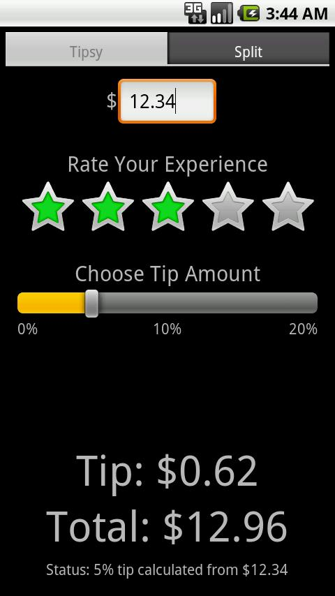 Tipsy- screenshot