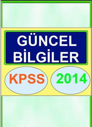 KPSS Güncel Bilgiler 2013 2014