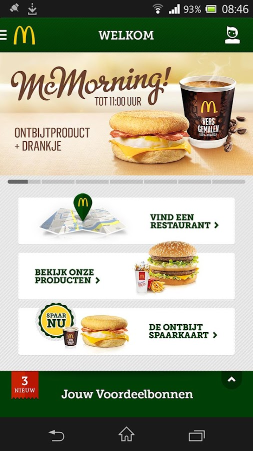 McDonald's Nederland- screenshot