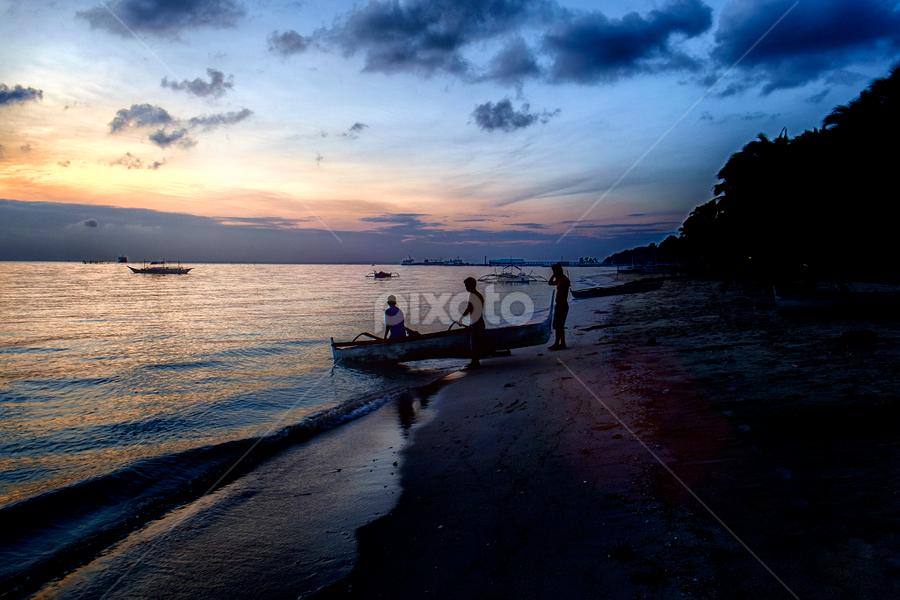 3 fishermen by Ferdinand Ludo - People Portraits of Men ( 3 fishermen, seashore, bantayan island, bancart )