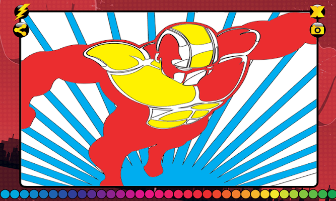 Superhero Coloring Book - screenshot