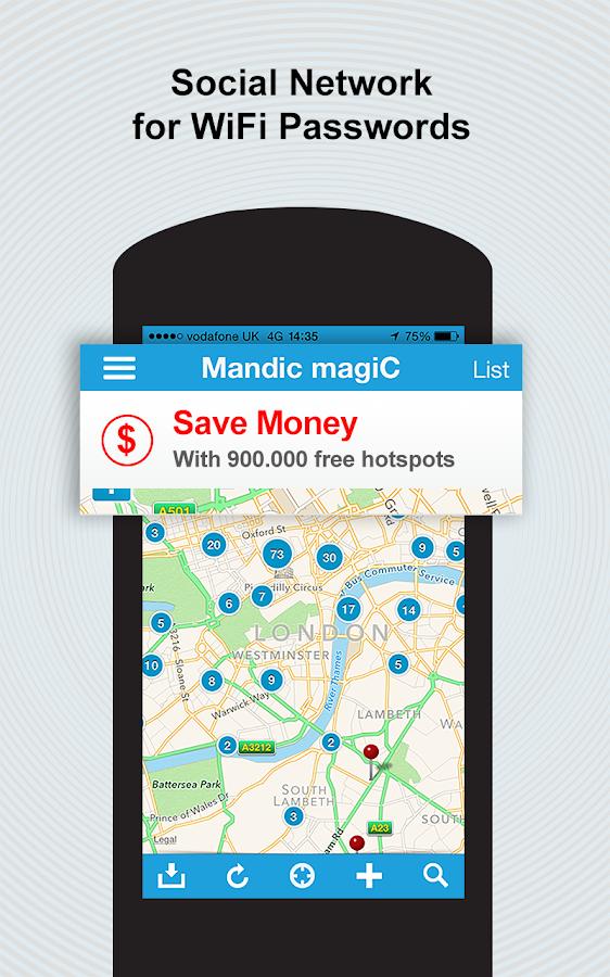 Screenshots of WiFi Magic by Mandic Passwords for iPhone