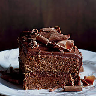 Milk-Chocolate-Frosted Layer Cake.