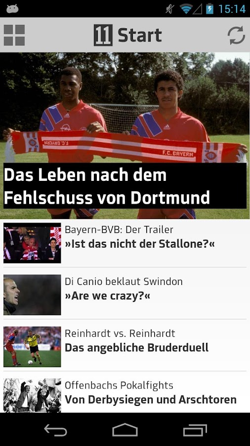 11FREUNDE - Fußballkultur-App - screenshot