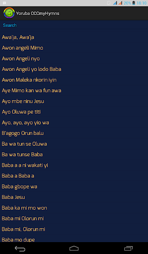 CCCmyHymns Yor: CCC Hymn Book