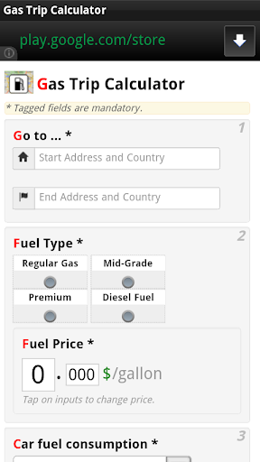 Gas Trip Calculator