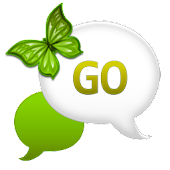 GO SMS - Lime Green Sky