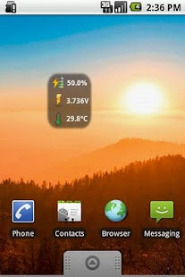 BatStat Battery Widget - screenshot thumbnail
