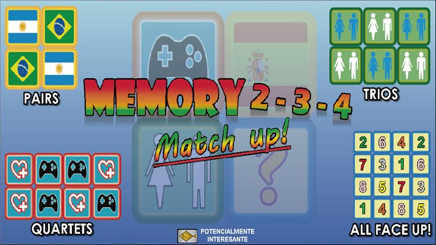 Memory 2 3 4 match up! - screenshot