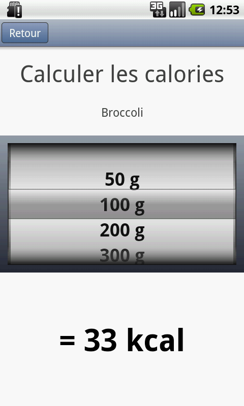 Calory Calculator - screenshot