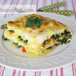 Spinach Potatoes Au Gratine