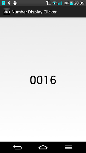 Number Display Clicker