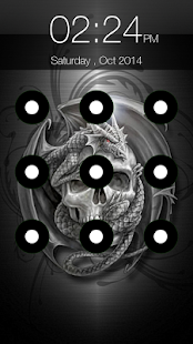 Skull Pattern Screen Lock - náhled