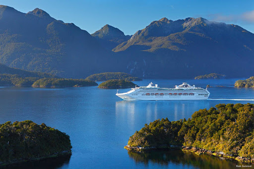 Cruising_Fiordland_2 - Fiordland is a collection of huge glacier-carved valleys that have been flooded by the sea. Maori believe  the fjords were created by a giant stonemason, Tute Rakiwhanoa, who hewed out the steep-sided valleys with his edging tool.