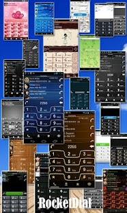 Rocket Caller ID Metal Theme screenshot
