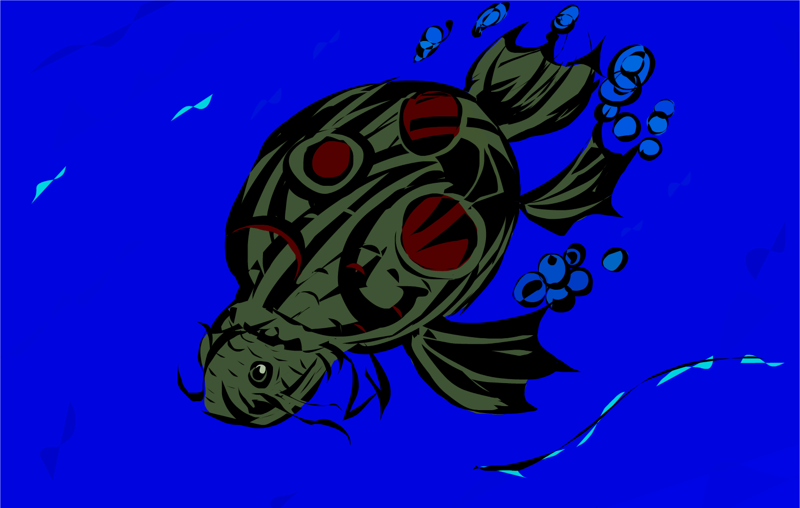 The return of fish turtle drawings sketchport for Turtle fish games