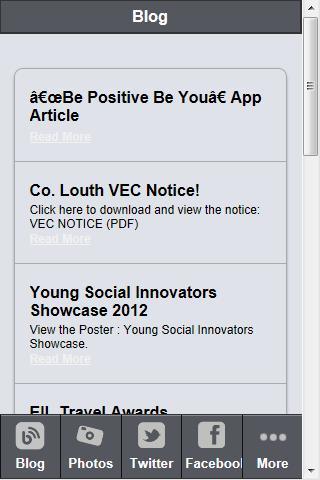 Louth Comhairle na nOg - screenshot
