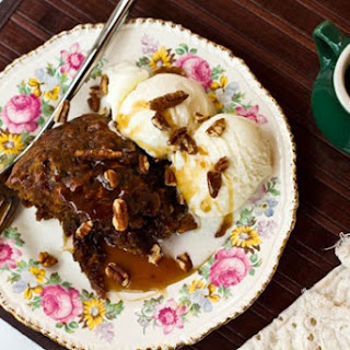 Sinless Sticky Toffee Pecan Pudding