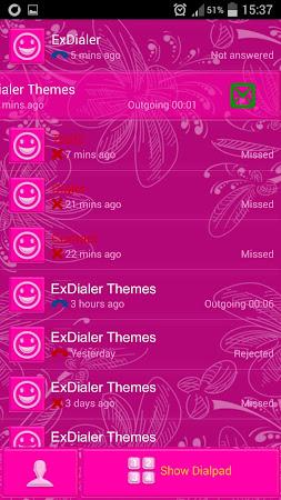 Pink Glow Dialer Theme 1.9.5 screenshot 1166861