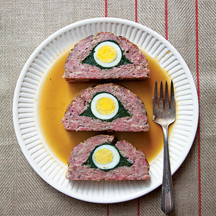 Egg-and-Spinach-Stuffed Meat Loaf Recipe