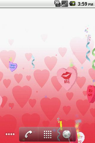 Valentine Candy LWP - screenshot