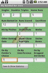 My BaseBall Bat Stats
