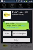 Screenshot of Rádio Novo Tempo 630 AM