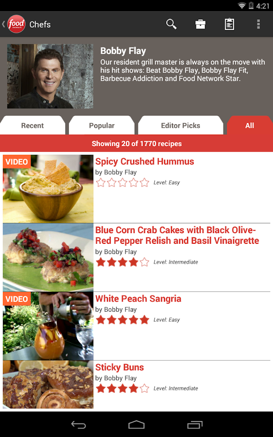 Food Network In the Kitchen Android Apps on Google Play