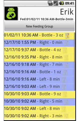 Breast Feeding Tabulator: Free- screenshot