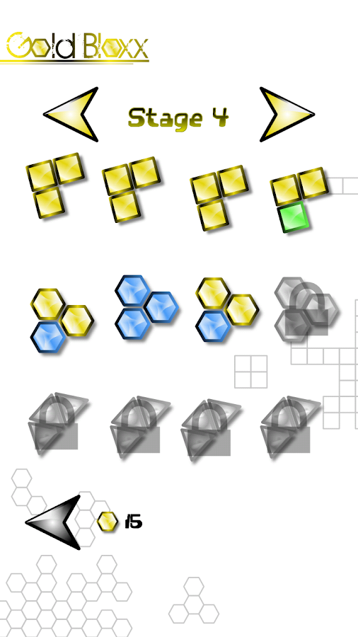 Gold Bloxx - Random Puzzles - screenshot