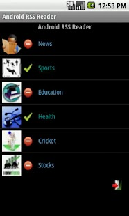RSS Reader for Android - screenshot thumbnail
