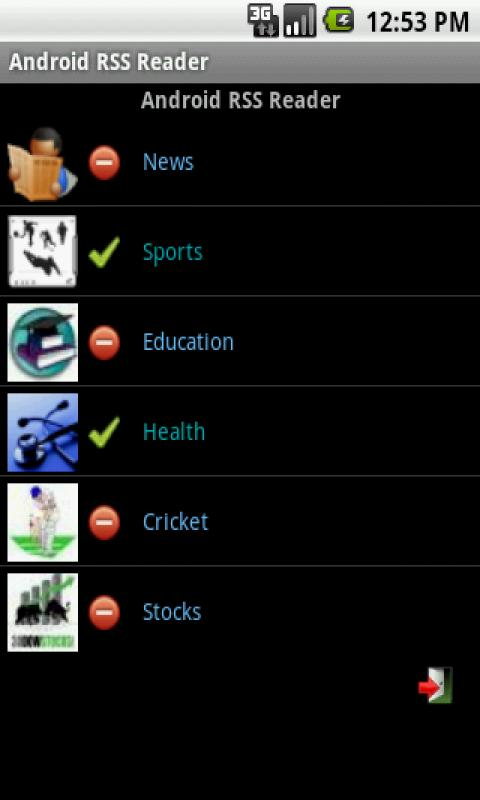RSS Reader for Android - screenshot