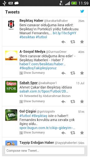Beşiktaş Tweetleri