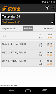 Time tracker - Mobile Worker - screenshot thumbnail