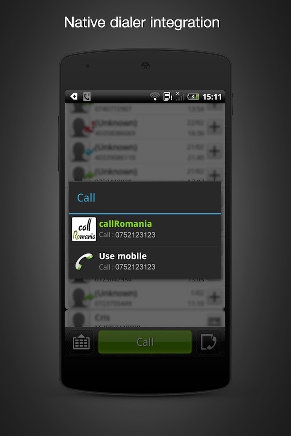 call Romania: cheap calls - screenshot