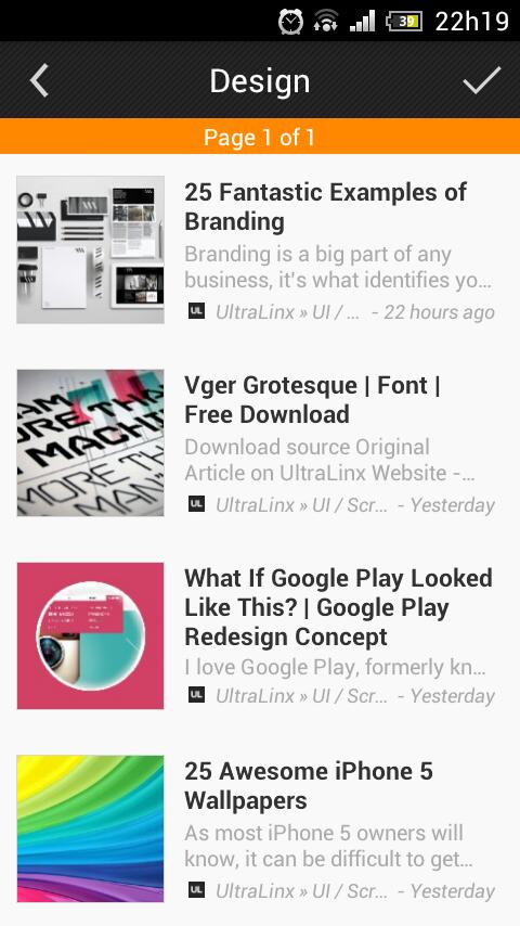 Flow Reader (Google Reader)- screenshot