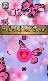 Cute Butterfly Theme for GO- screenshot thumbnail