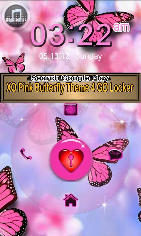 Cute Butterfly Theme for GO- screenshot