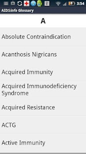 AIDSinfo HIV/AIDS Glossary - screenshot thumbnail