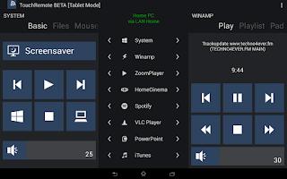 Screenshot of TouchRemote BETA