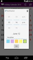 Screenshot of 2015 US Holiday Calendar NoAds
