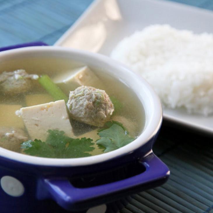 Thai Tofu-Pork Soup